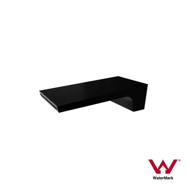 Premium-Electroplated-MATTE-BLACK-Square-Waterfall-SinkBath-Spout-Water-Outlet-252974997508