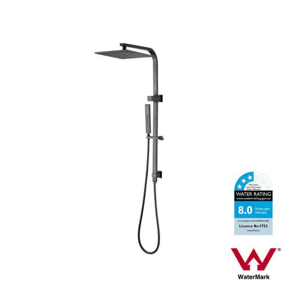 10-250mm-Square-Gun-Metal-Grey-Sliding-Rail-Shower-Set-w-Handheld-Hand-Shower-254481915569