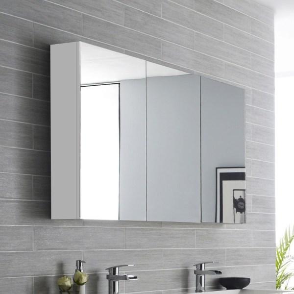 1200mm-Soft-Closing-Mirror-Shaving-Medicine-Cabinet-w-Glass-Shelves