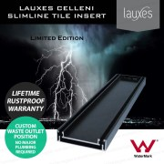900mm-LAUXES-Cellini-Midnight-Black-Slimline-Tile-Insert-Floor-Drain-Waste-253218766609