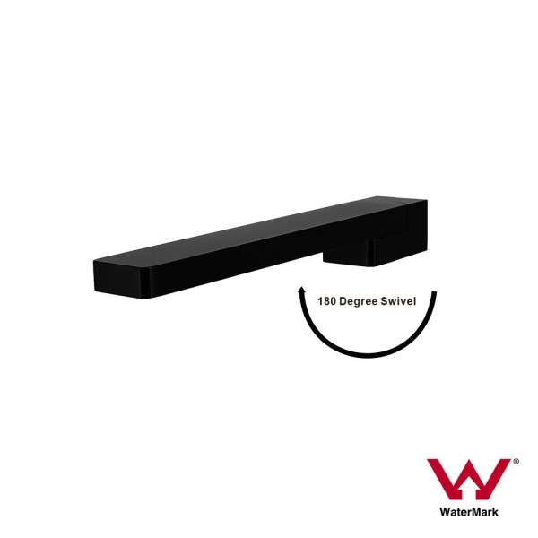ARDMORE-Designer-Square-MATTE-BLACK-180-Swivel-Premium-Electroplated-Water-Spout-253193478279