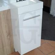 MINI-Compact-400mm-White-Gloss-Polyurethane-Small-Slim-Narrow-Ensuite-Vanity-253261469289-8