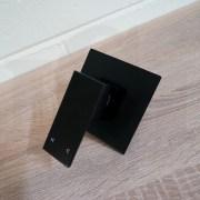 Premium-Electroplated-Square-Matte-Black-Ultra-Slim-Wall-Shower-Bath-Mixer-253200363179-7