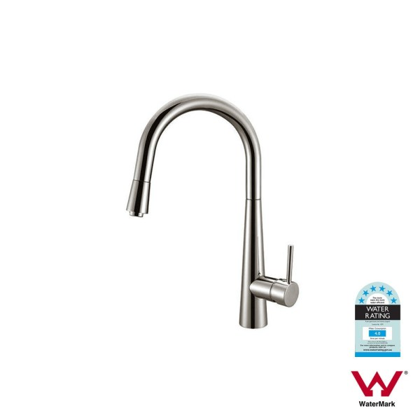 Round-Cone-Brushed-Nickel-Chrome-Pull-Out-Kitchen-Laundry-Sink-Pin-Lever-Mixer-252655960329-3