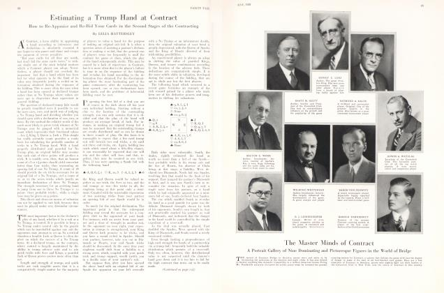 The New Backgammon  Vanity Fair  October 1930
