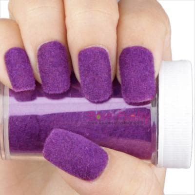 If You Ve Ever Seen The Sally Hansen Fuzzy Coat Nail Polish Ll Know That Flocking Or Layering Of Velvety Textures On Your Nails Is All Rage