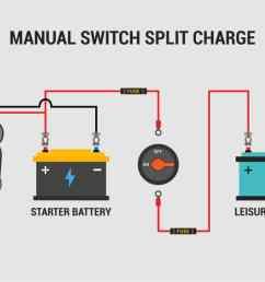 a typical 12v manual switch split charge campervan wiring diagram  [ 1920 x 1080 Pixel ]