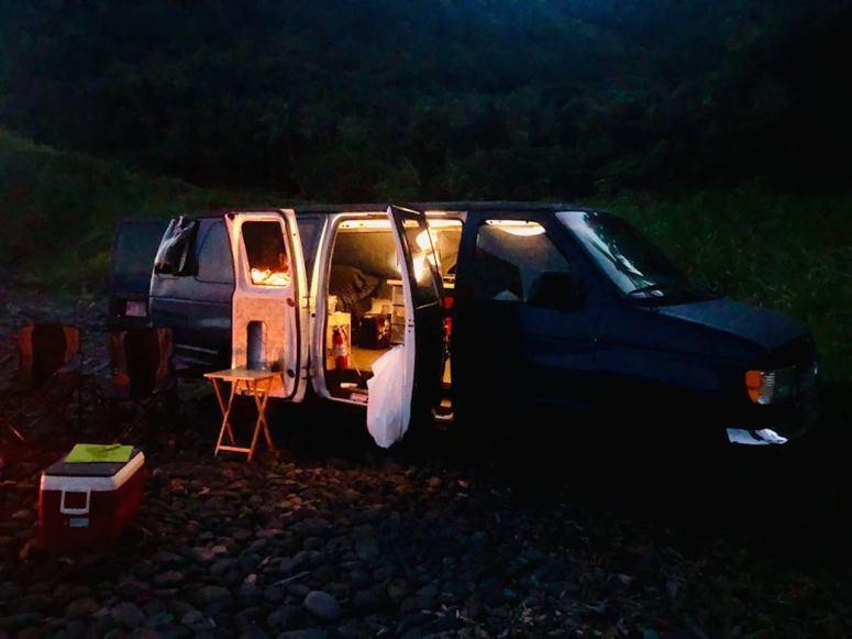 night royal blue camping campfire campground camping rental maui campstove fire
