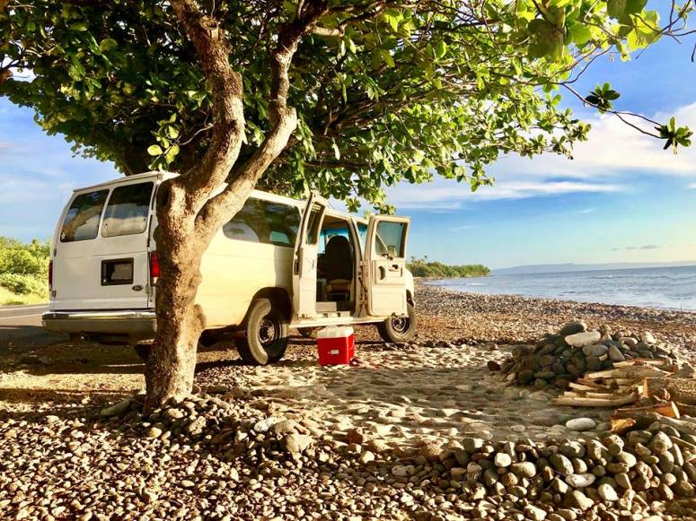 WHERE TO SLEEP IN MAUI 7 EPIC CAMPGROUNDS CAMPERVAN RENTALS VANLIFE CAMPING INFO CAMPSITE GOOGLE REVIEWS HANA HIGHWAY CAMPFIRE WHITEY FORD