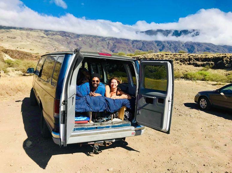seven sacred pools hana highway royal blue vanlife maui campervan rentals australian guests