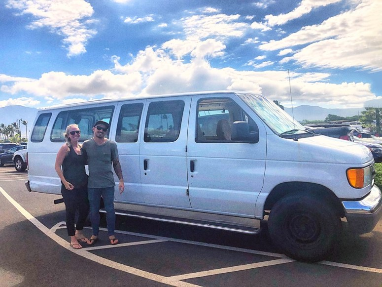 guest in cloud 9 fully equipped campervan vanlife maui rental