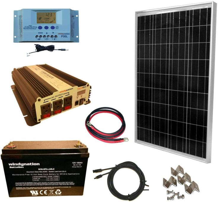 Starter solar kit #vanliving #vanlife #conversionvan #vanconversion #vanbuild #rvliving #rvlife