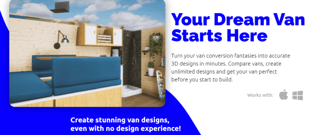 Vanspace 3d van design software #vanlife