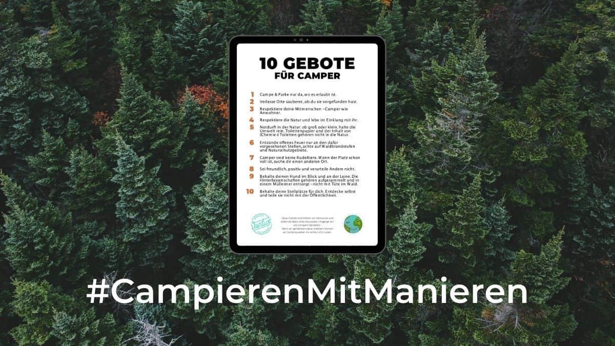 10 Gebote für Camper - #CampierenMitManieren