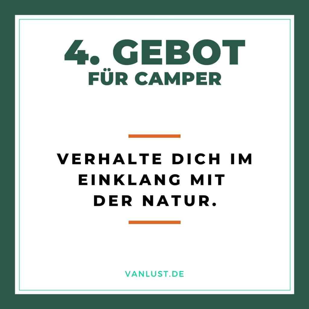 4. Gebot für Camper - 10 Gebote
