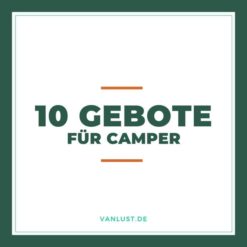 Titel - 10 Gebote für Camper
