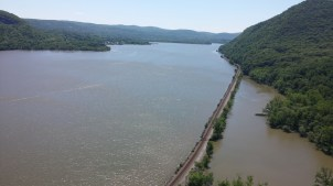 One of Brendan's favorite overlooks of the Hudson River, where we did some filming.