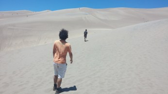 Exploring Great Sand Dunes National Park with my found friends, Giego and Adam. FAITH MECKLEY