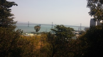 The view of the Bay Bridge from partway up the climb. FAITH MECKLEY