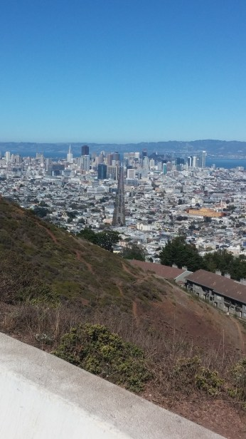From just the right angle on top of the Twin Peaks, you can see straight down Market Street to the Ferry Building. FAITH MECKLEY