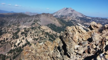 A view of Lassen Peak over Brokeoff's jagged teeth. FAITH MECKLEY