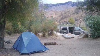 The campsite I chose at Chico Flat Campground had abundant vegetation, offering privacy from other campers. FAITH MECKLEY