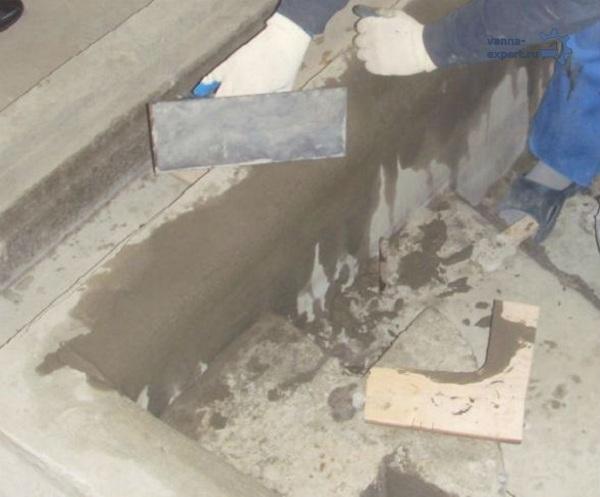 목욕 콘크리트 표면 정렬