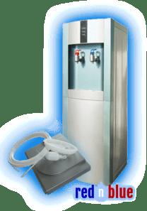 vanndispenser-pou-rednblue