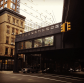 Street-level view of the High Line