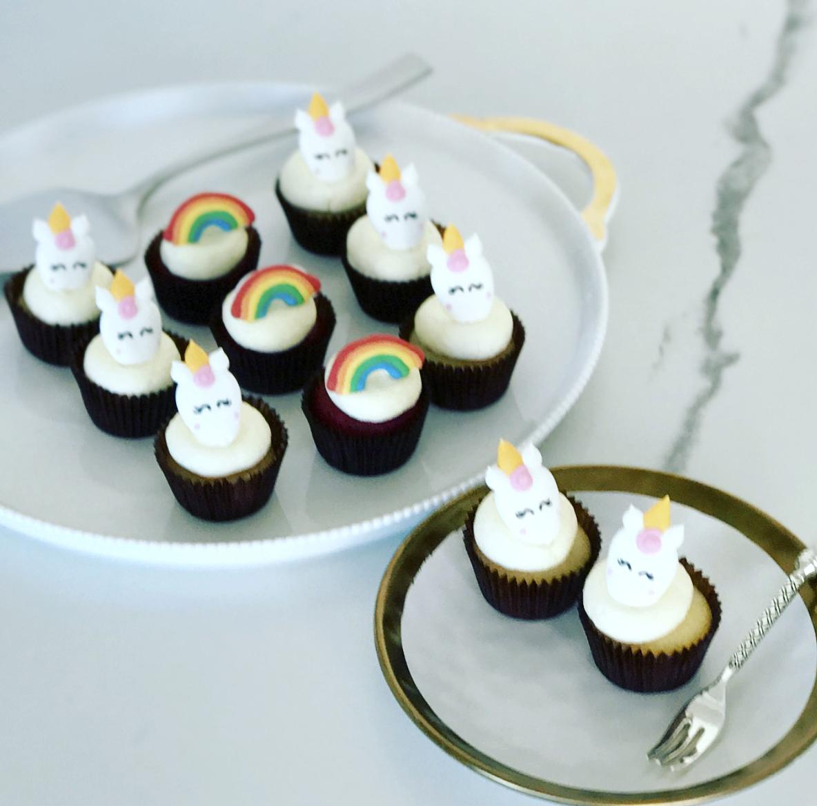 Mini Unicorn Cupcakes Vanoir
