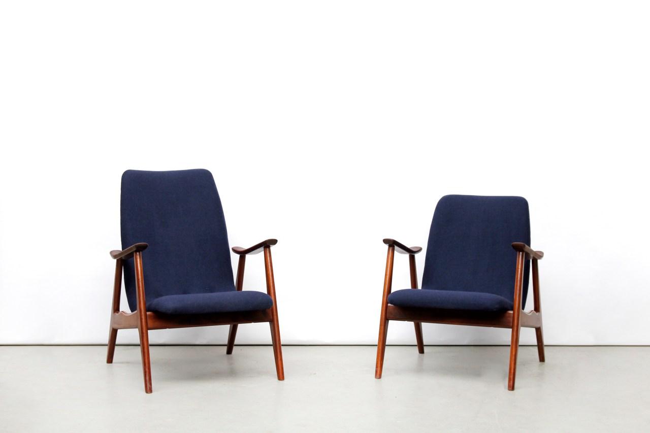Twee vintage design fauteuils  van OnS