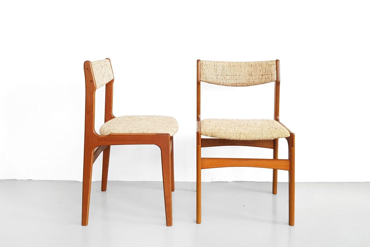 Set van 4 Deens design eetkamerstoelen Erik Buch VAN ONS