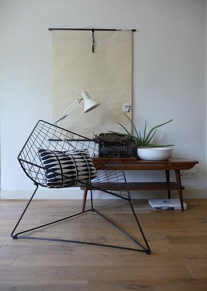 Van oude dingendraadstoel van Niels Gammelgaard VERKOCHT