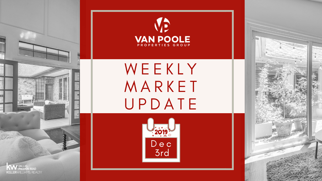 Weekly Market Update – December 3, 2019 – Dallas-Ft. Worth Real Estate