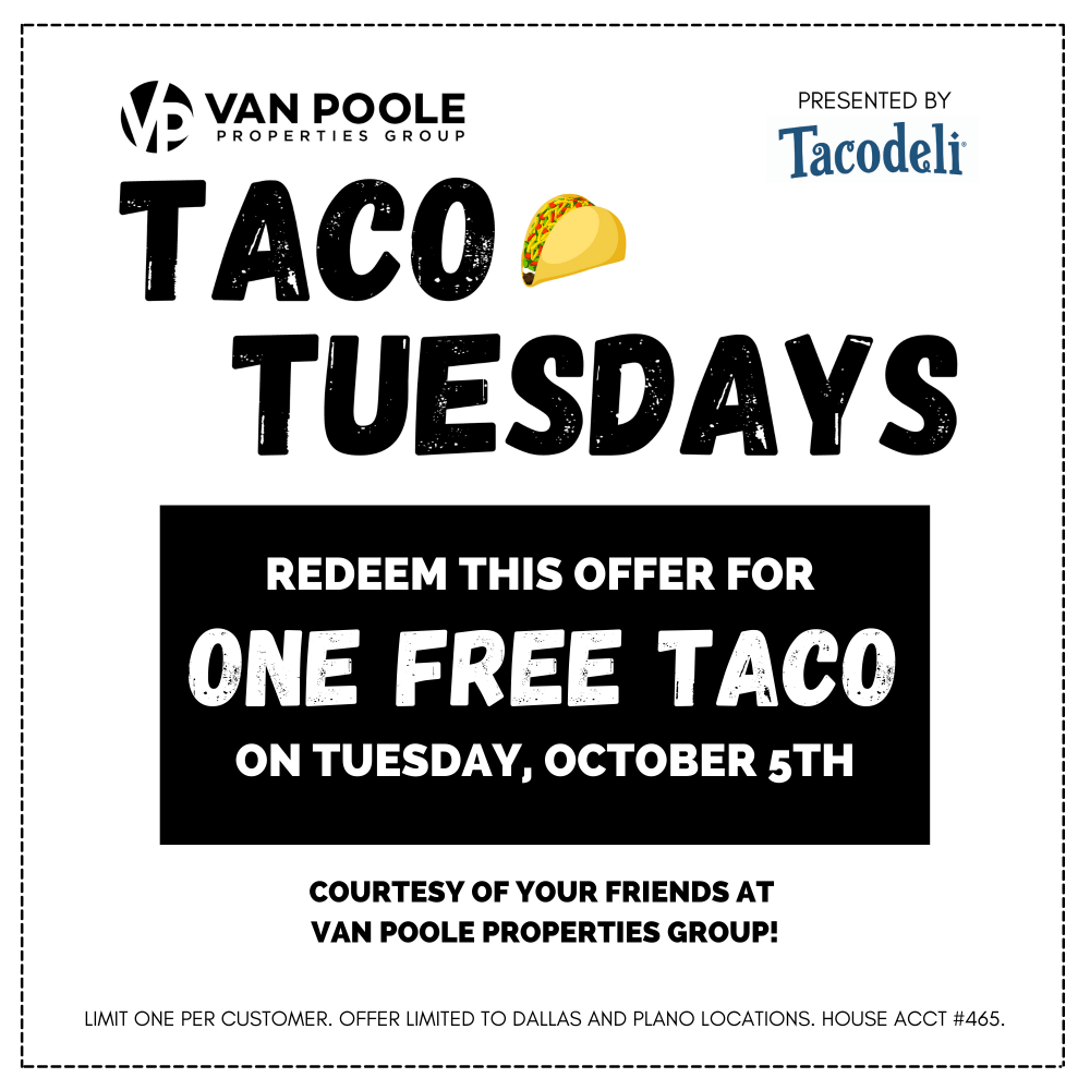 Taco Tuesday Offer - OCTOBER