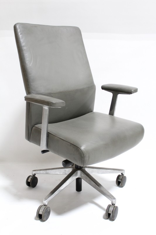 stackable rolling chairs ergonomic chair assessment office high back executive conference padded arms 5 prong base leather grey ...