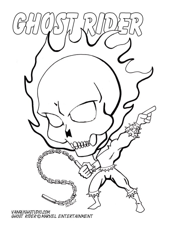 ghost rider coloring pages # 10