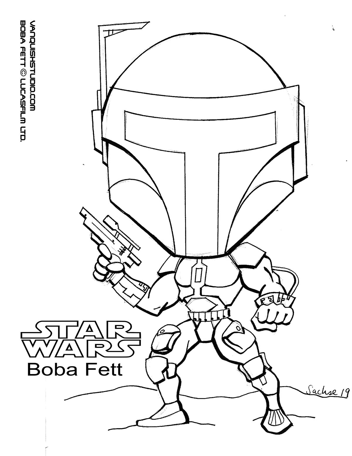 Boba Fett Coloring Page : coloring, Coloring, Vanquish, Studio