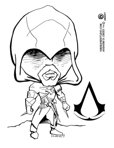 Assassins Creed Coloring Pages : assassins, creed, coloring, pages, Assassin's, Creed, Coloring, Vanquish, Studio