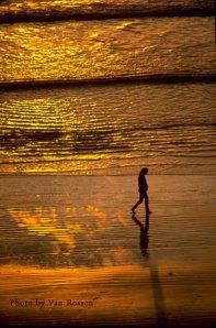 Sunset Walk Oregon Beach