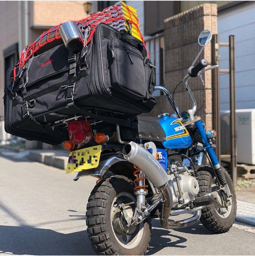 como cargar con equipaje una monkey bike,