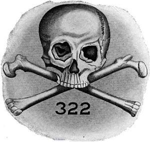 Skull and Bones emblem featuring 322