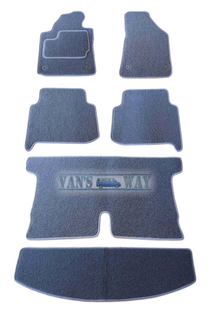 ensemble tapis avec coffre touran 7 places gris anthracite