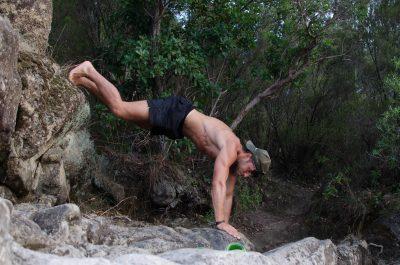 Fitness währen des Angeln Outdoorsport während der Reise