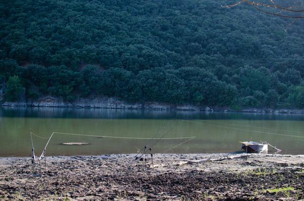 Schlammiger See in Frankreich