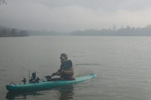 Kayak beim Karpfenangeln