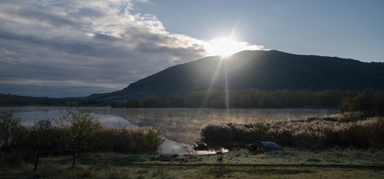 Sonnenaufgang Südfrankreich im Herbst
