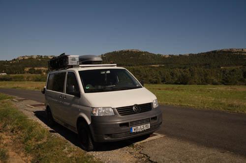 Gewässertour in Frankreich, T5 Vanlife Campervan