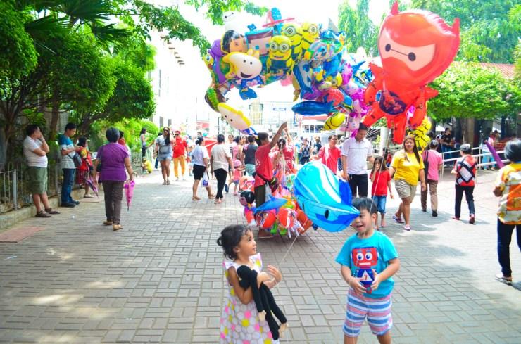 balloons in santo niño