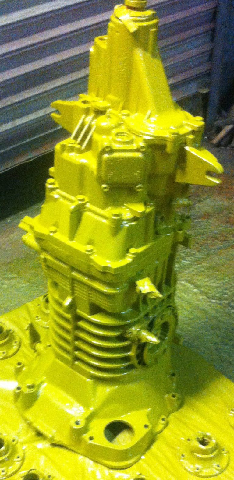 vw T3 Syncro gearbox in paint